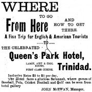 Queen's Park Hotel ad