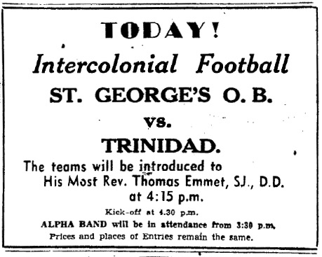 Today! Intercolonial Football