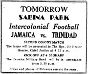 Tomorrow Sabina Park