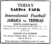 Today, Sabina Park