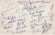 Trinidad Football Team Autographs