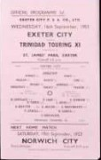 Exeter City vs Trinidad Touring XI