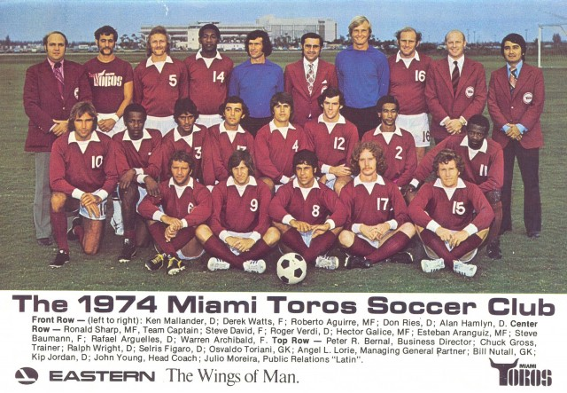 The 1974 Miami Toros Soccer Club