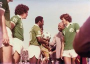 Pele and Sir Ellis Clark