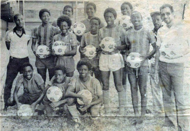 Having a ball...