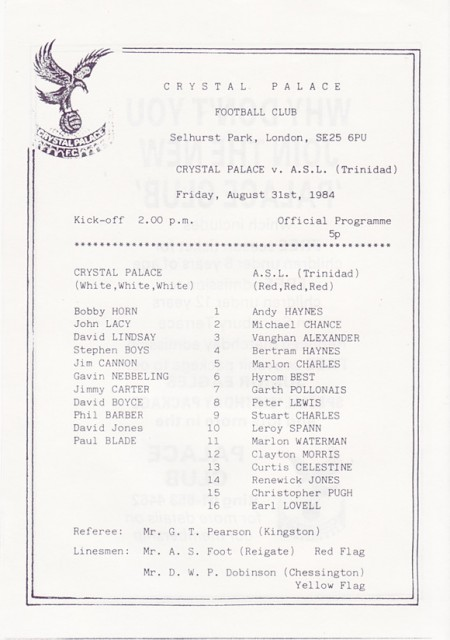 Crystal Palace v ASL Sports