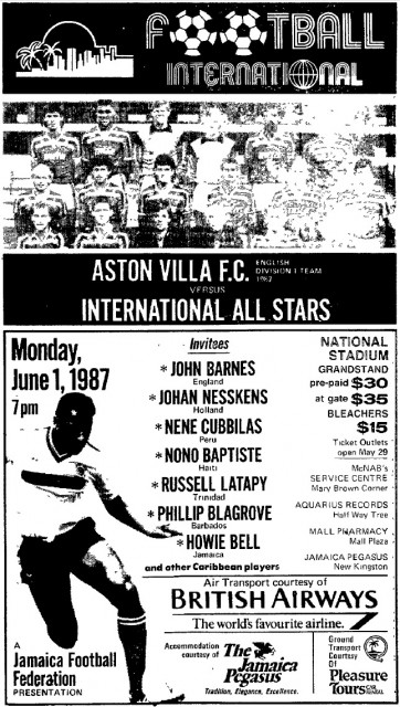 Aston Villa F.C. versus International All Stars