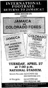 Jamaica vs Colorado Foxes