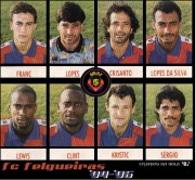 Leonson Lewis and Clint Marcelle with FC Felgueiras