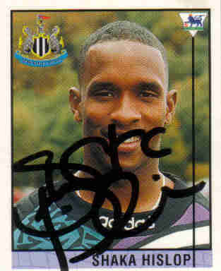 Shaka Hislop with Newcastle United