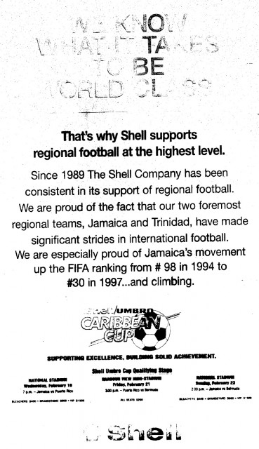 Shell Caribbean Cup Ad