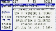 USA vs. T&T ticket